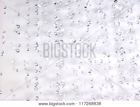 Abstraction of water drops closeup