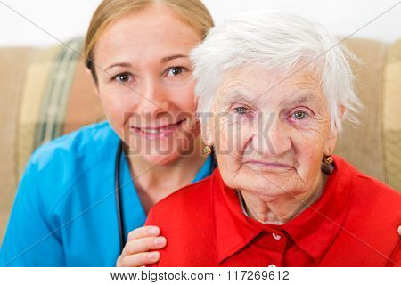 Elderly Woman And Young Doctor