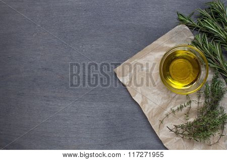 Some Herb And Olive Oil