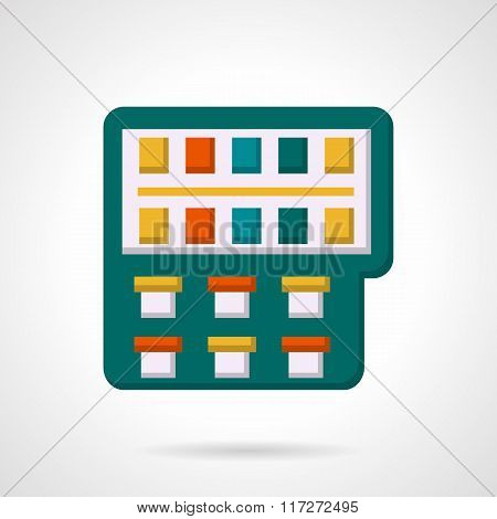 Colorful paintbox flat vector icon