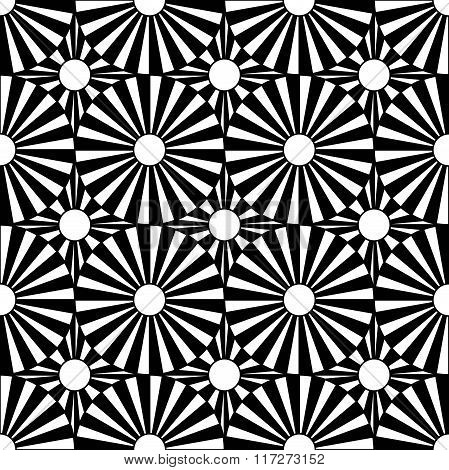 Vector modern seamless geometry pattern target black and white abstract
