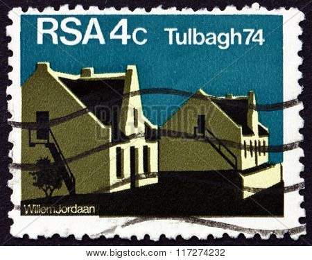 Postage Stamp South Africa 1974 Restored Houses, Tulbagh