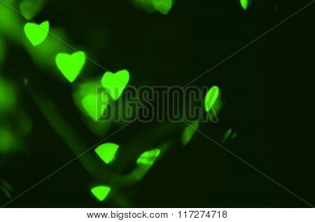 Green hearts texture.