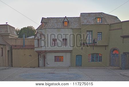 Hollywood- Usa, July 16, 2014: Filming Pavilions And Built Ready To Use Decorations Set Up At Univer