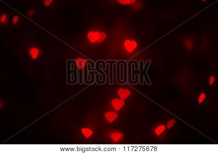 Red hearts texture.
