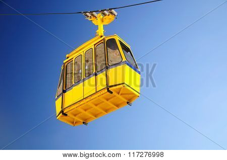 Yellow cable car.