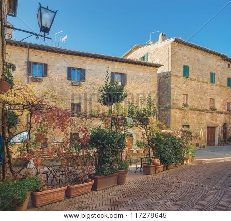 Beautiful Architecture Of Captivating Pienza Town, Tuscany