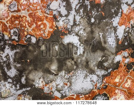 Red black and white grunge wall texture