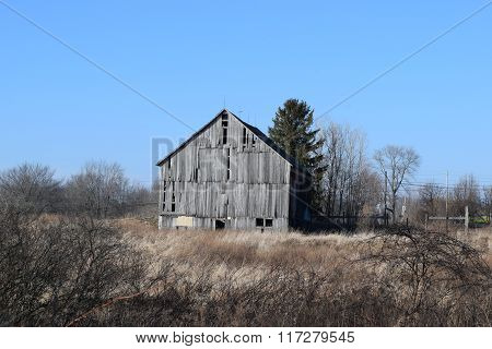 a old country barn in need of repair