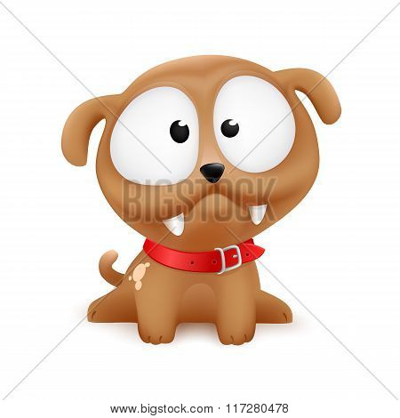 puppy vector character sitting
