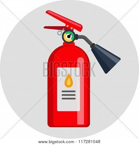 extinguisher flat color icon illustration
