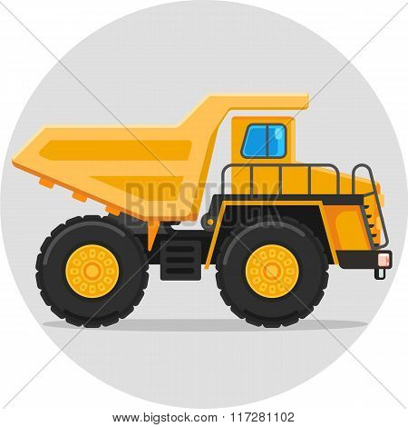 dump truck color icon