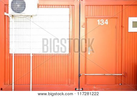 Container with Locked door