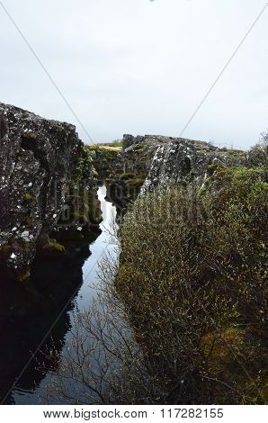 Geological Fissure At Thingvellir