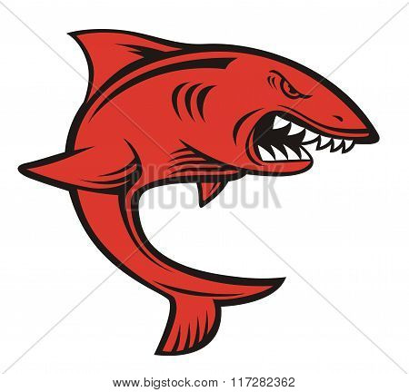 shark red angry