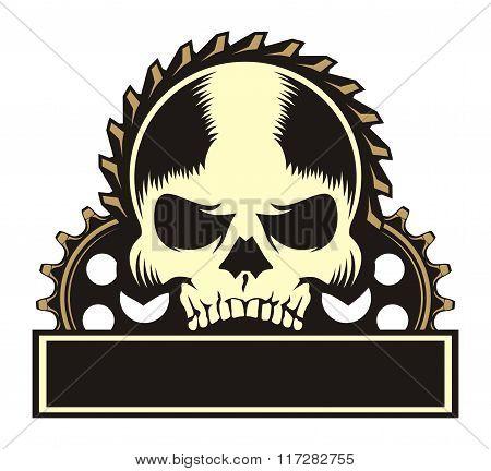 skull 3 gear emblem
