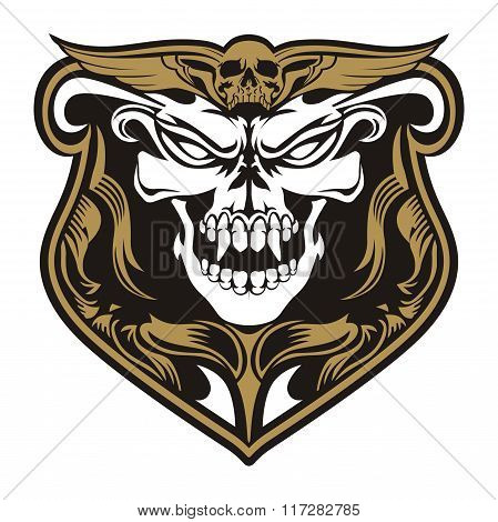 skull angry emblem