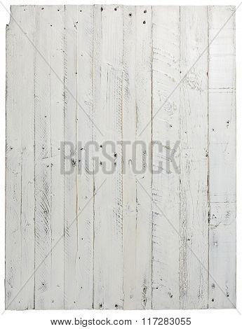 Pallet Wood Painted Background Texture Old Grey With Nail Holes Over White