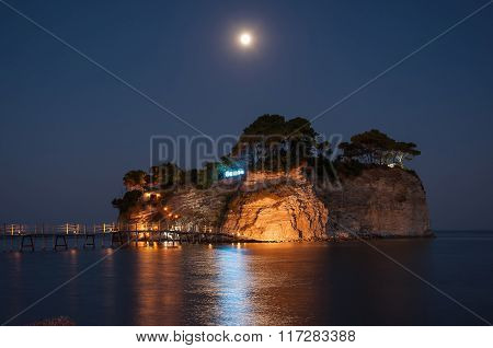 Cameo Island At Night, Zakynhtos, Greece