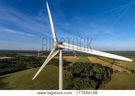 Aerial photo of windmill