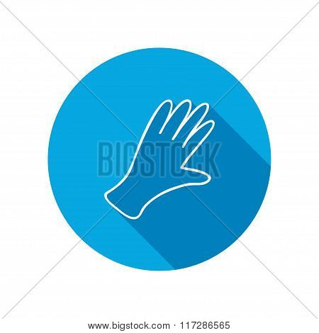 Rubber gloves icon. Protection mitten symbol.