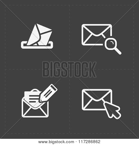 Email and envelope icons on Dark