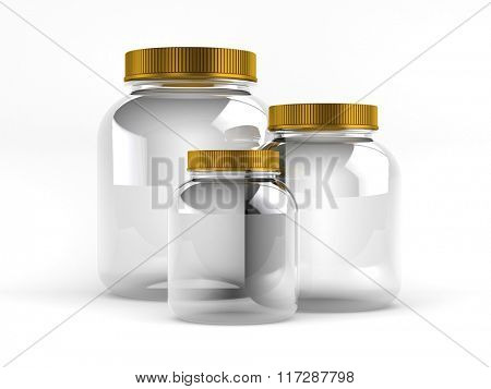 Glass Jars with gold covers
