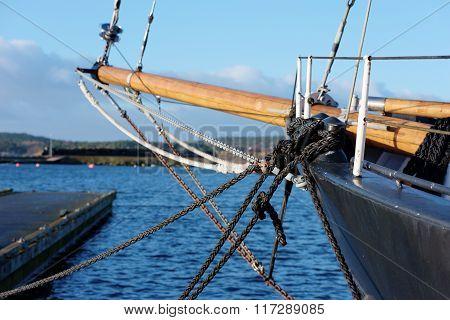 Black Ropes On Ship
