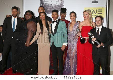 LOS ANGELES - FEB 5:  Empire Cast, Danny Strong at the 47TH NAACP Image Awards Press Room at the Pasadena Civic Auditorium on February 5, 2016 in Pasadena, CA