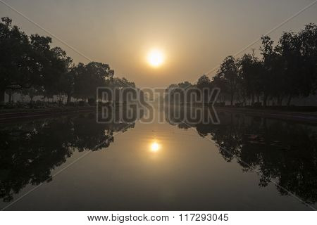 Morning Sunrise Scene