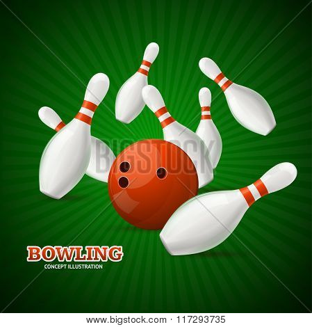 Bowling Concept. Vector