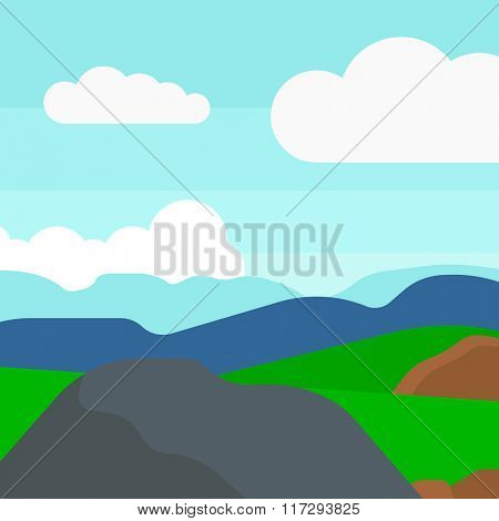 Background of hilly countryside.