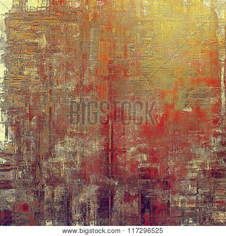 Grunge texture, distressed background. With different color patterns: yellow (beige); brown; red (orange); gray; purple (violet)
