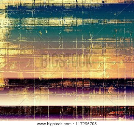Vintage aged texture, colorful grunge background with space for text or image. With different color patterns: yellow (beige); brown; blue; pink; purple (violet)