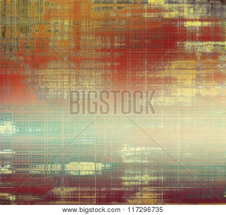 Designed grunge texture or retro background. With different color patterns: yellow (beige); brown; red (orange); green; gray