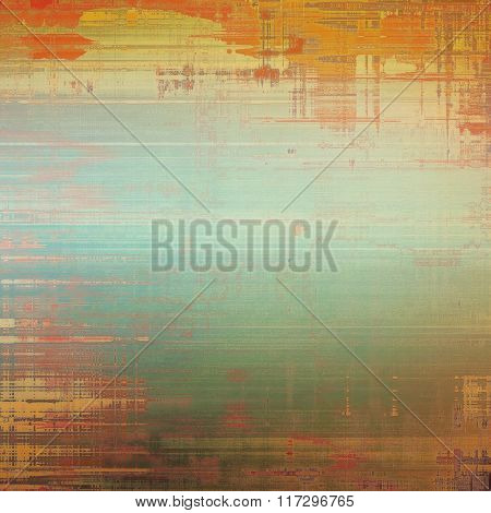 Background with grunge stains. With different color patterns: yellow (beige); brown; red (orange); cyan; green
