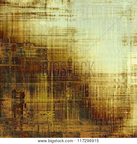 Aged grunge texture. With different color patterns: yellow (beige); brown; white; gray