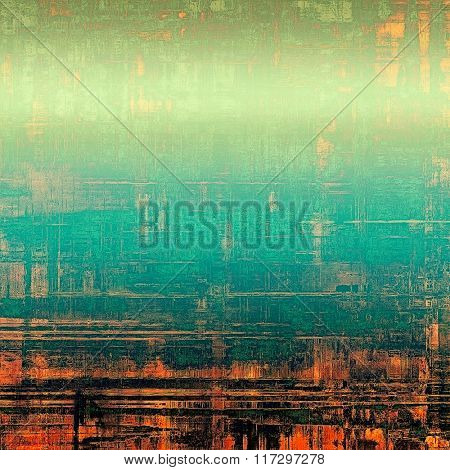 Grunge old texture as abstract background. With different color patterns: yellow (beige); red (orange); blue; green; black