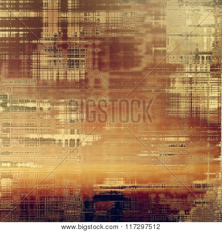 Art vintage background with space for text and different color patterns: yellow (beige); brown; red (orange); gray; purple (violet)