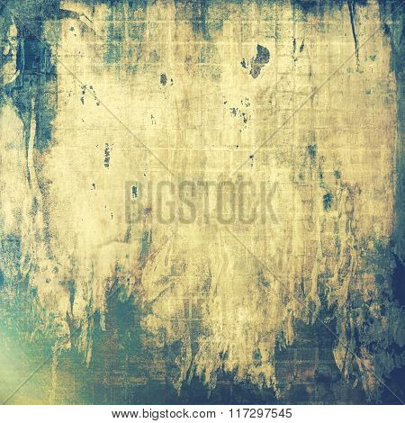 Old abstract grunge background for creative designed textures. With different color patterns: yellow (beige); brown; blue; green; gray