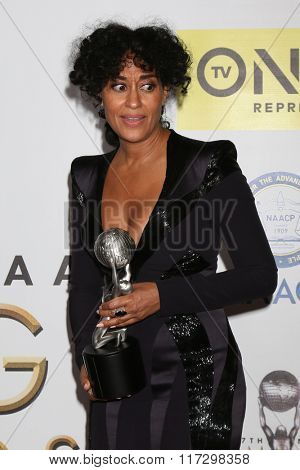 LOS ANGELES - FEB 5:  Tracee Ellis Ross at the 47TH NAACP Image Awards Press Room at the Pasadena Civic Auditorium on February 5, 2016 in Pasadena, CA