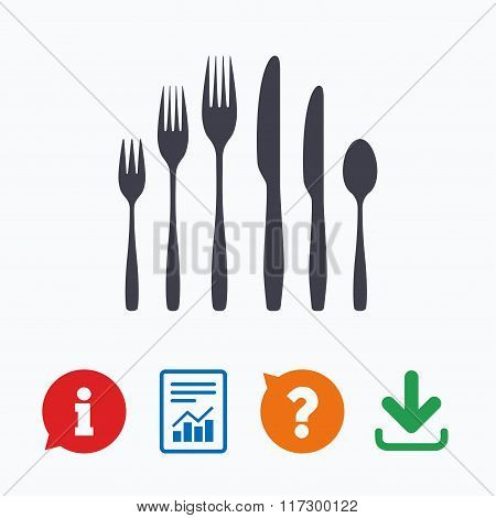 Dessert fork, knife, teaspoon. Cutlery set.