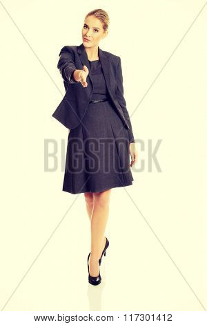 Woman ready to handshake