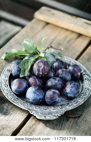 large blue plums