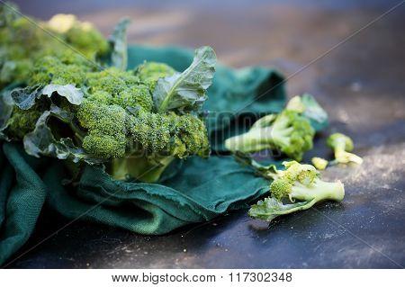broccoli on a table