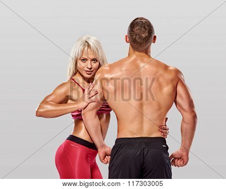 fitness couple posing
