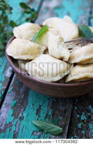 Dumplings with cheese, Ukrainian dish