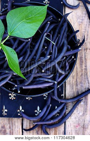 Blue beans, still, top view