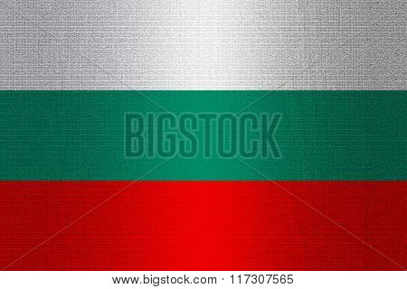 Flag Of Bulgaria On Stone