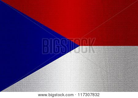 Flag Of Czechoslovakia On Stone